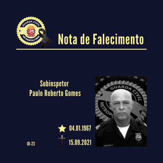 NOTA DE FALECIMENTO – Subinspetor Gomes